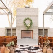 Rustic Mid Century Modern Wedding Ceremony