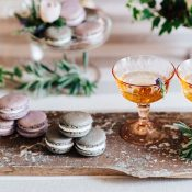 Lavender Champagne Cocktails and French Macarons