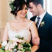 Elegant Floral Lace Wedding Dress for Spring