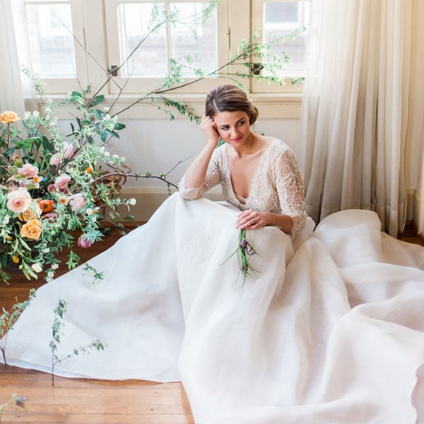 Enchanted Spring Bridal Shoot with a Vintage Dress - Hey Wedding Lady