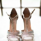 Sparkling Silver Bridal Shoes
