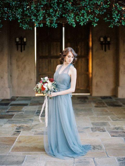 Something Blue Wedding Dress 83 Unique Dusty Blue Halter Bridesmaid