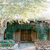 Lush and Natural Hacienda Wedding Ceremony