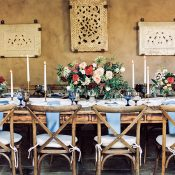 Colorful Rustic Wedding Reception