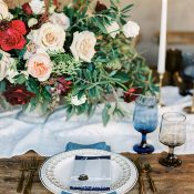 Elegant Red, White, and Blue Wedding Decor