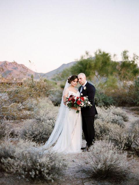 Something Blue Wedding Dress 9 Epic Magic Hour Wedding Portraits