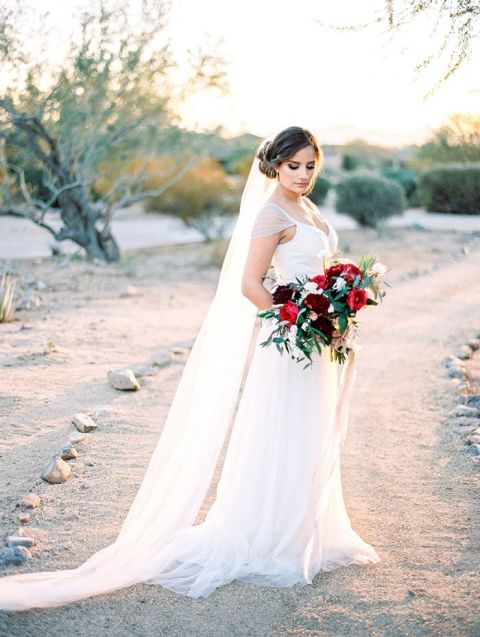 Something Blue Wedding Dress 2 Beautiful Romantic Bride with a
