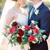 Something Blue and Bold and Beautiful Wedding Shoot