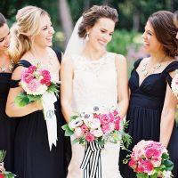 Whimsical Kate Spade Wedding in Black Tie