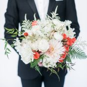 Coral and Blush Botanical Bouquet