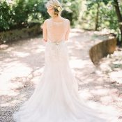 Stunning A-line Wedding Dress with an Illusion Back