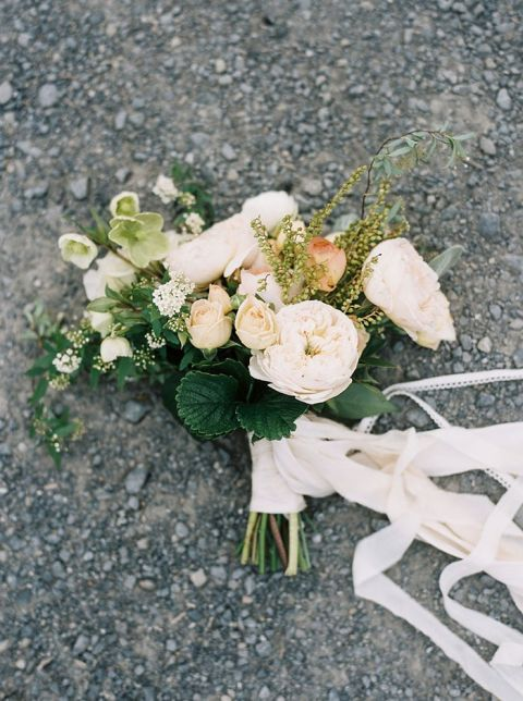 Foraged Ivory and Peach Bridal Bouquet