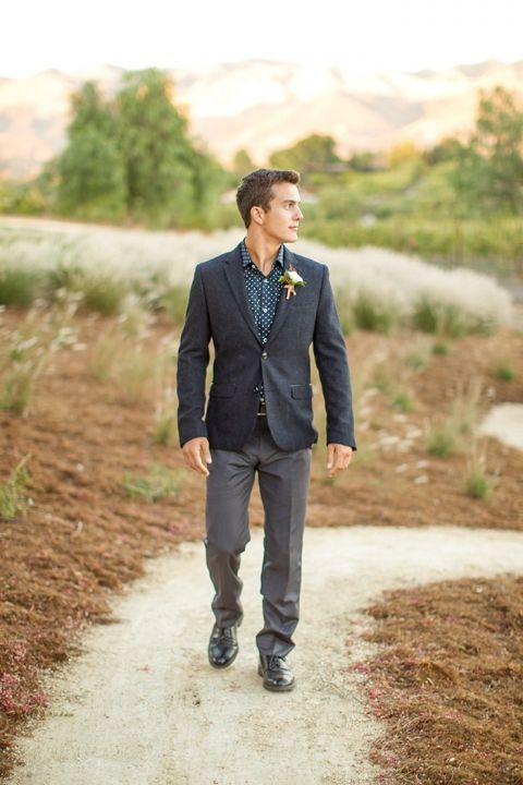 Modern Groom with a Patterned Shirt