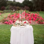 Heirloom Sweetheart Table in a Rose Garden