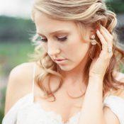 Romanti Partial Updo for a Spring Bride