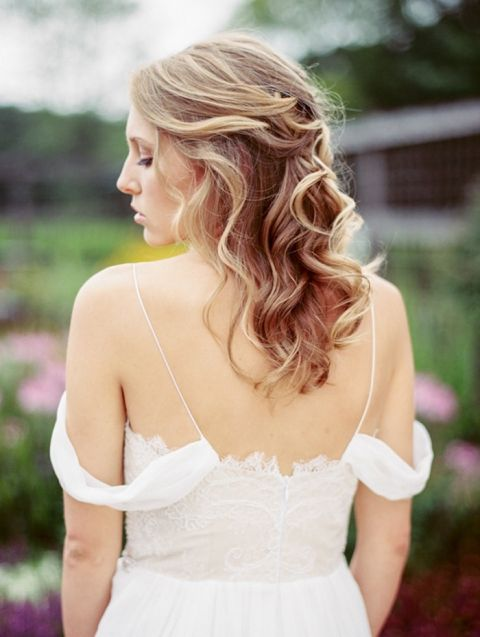 Ethereal Lace Off the Shoulder Wedding Dress