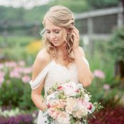 Exquisite Spring Bride in an English Style Garden