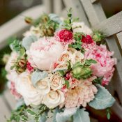 Blush and Pink Summer Garden Bouquet