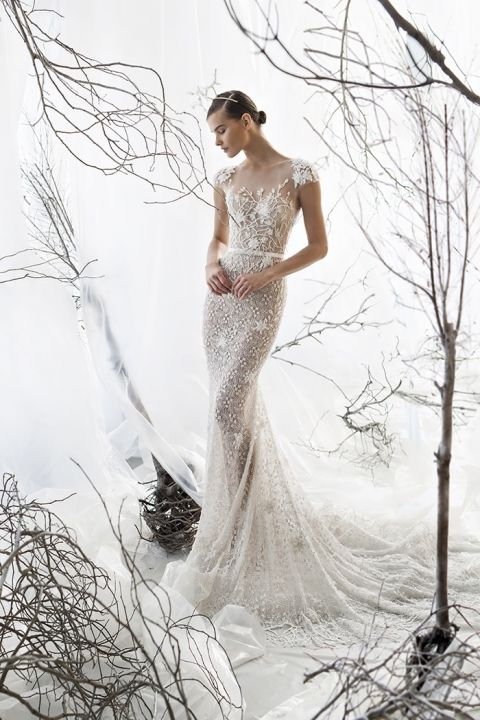 Ethereal Illusion Fit to Flare Wedding Dress