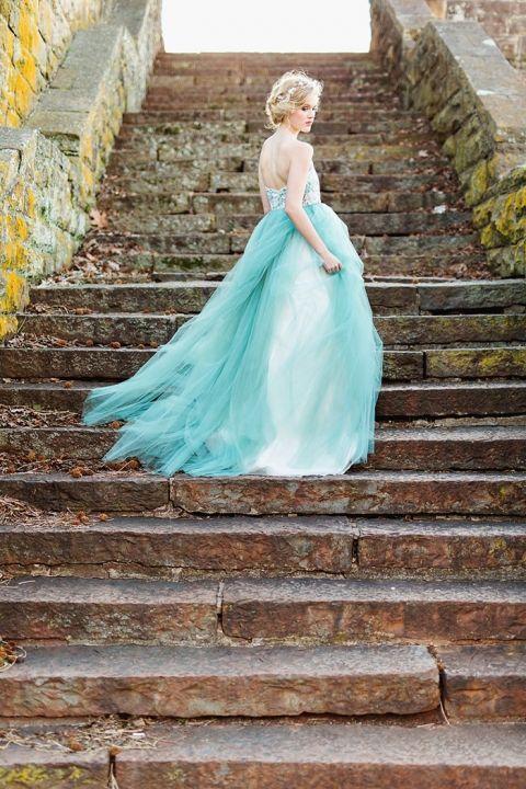 Colorful Modern Fairy Tale Bridal Shoot - Hey Wedding Lady