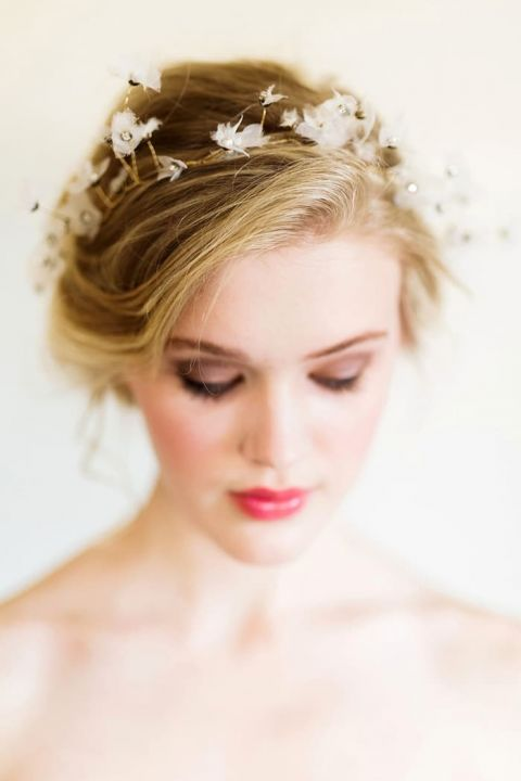 Delicate Crystal Flower Bridal Headpiece