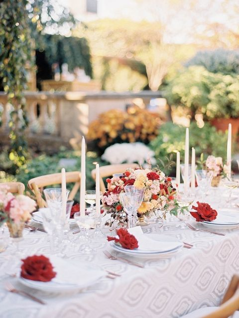Gorgeous Colorful Fall Wedding Table Decor