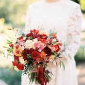 Rich Autumn Wedding Bouquet