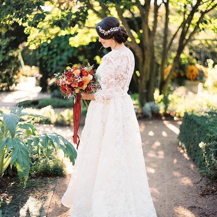Vintage Wedding Styling In An Autumn Garden