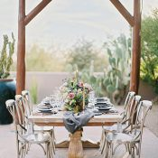 Elegant Rustic Pedestal Farm Table