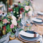 Copper and Wood Organic Table Decor