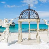 Ocean Front Gazebo for a Classic Wedding on the Beach