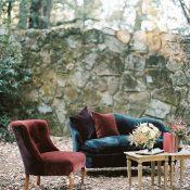 Vintage Wedding Lounge Furniture in Jewel Toned Velvet