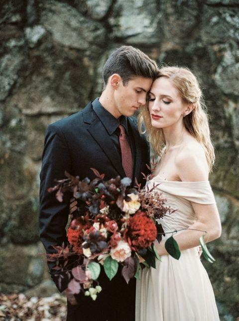 dark fairy tale wedding shoot in the mountains hey