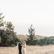 Romantic and Heartfelt Elopement in a Winter Field