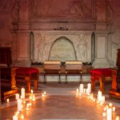 Candlelight Wedding Ceremony in an Italian Chapel