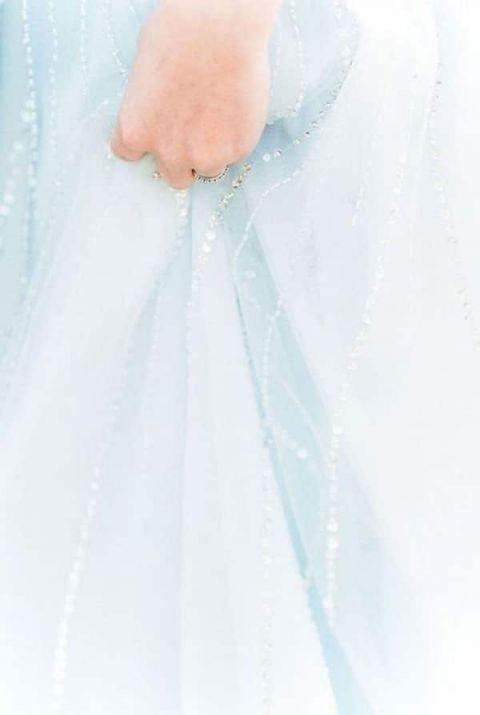 Sparkling Powder Blue Wedding Dress