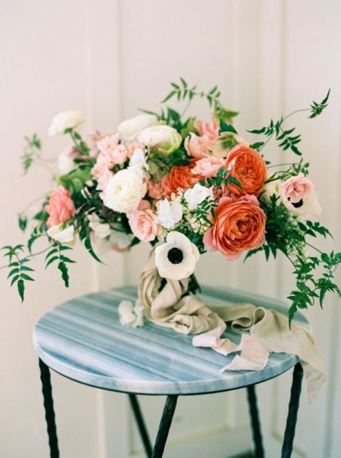 Coral Wedding Ideas 97 Good Coral and White Anemone