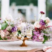 Romantic Garden Compote Centerpiece