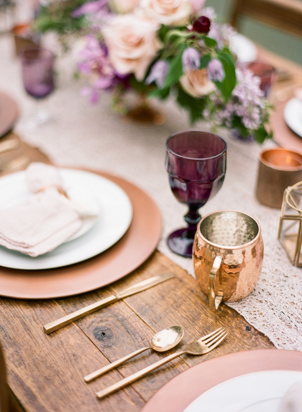 Whimsical Modern Garden Wedding In Copper And Purple Hey