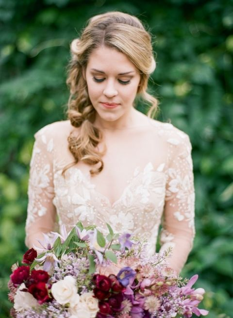 Wedding Dresses In Purple 93 Vintage Bride with a Dramatic