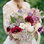 Red and Purple Spring Garden Bouquet