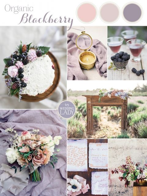 relaxed summer wedding in blackberry and lavender