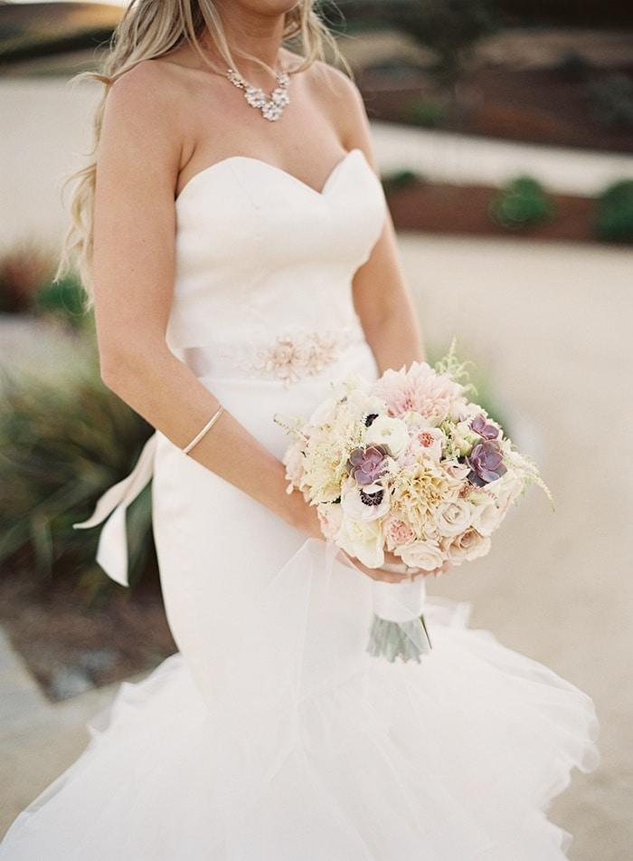 Modern Mermaid Wedding Dress with Rose Gold Jewelry ...