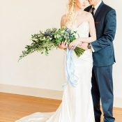 Dreamy Blue and White Wedding Portraits