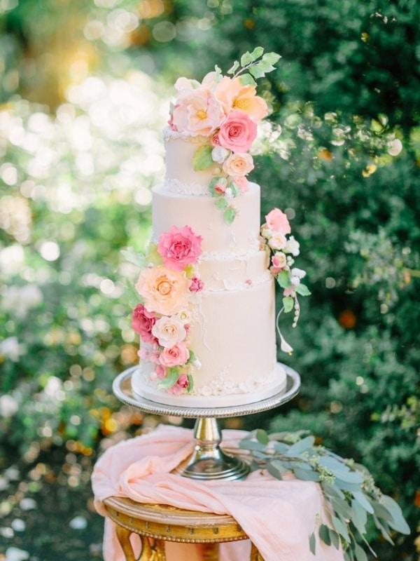 Fresh Summer Wedding Cake Ideas | Hey Wedding Lady Elegant Rainbow Wedding Cake