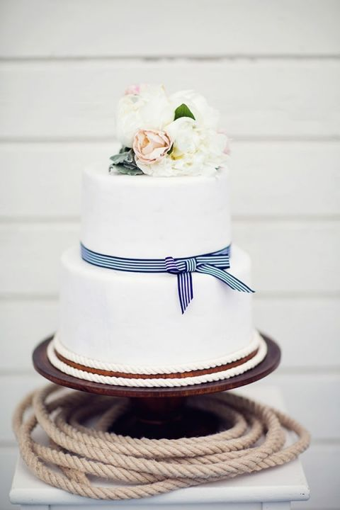 Simple Wedding Cakes 59 New Striped Nautical Wedding Cake