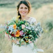 Colorful Organic Wedding Bouquet
