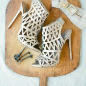 Laser Cut Booties for the Bride