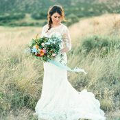 Colorful Bohemian Bride in a Magic Hour Shoot