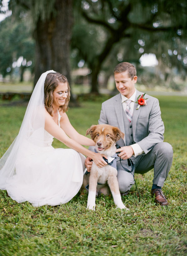 Bride And Groom With Their Best Man Their Dog Emily Katharine